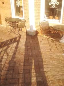 A selfie of my shadow.